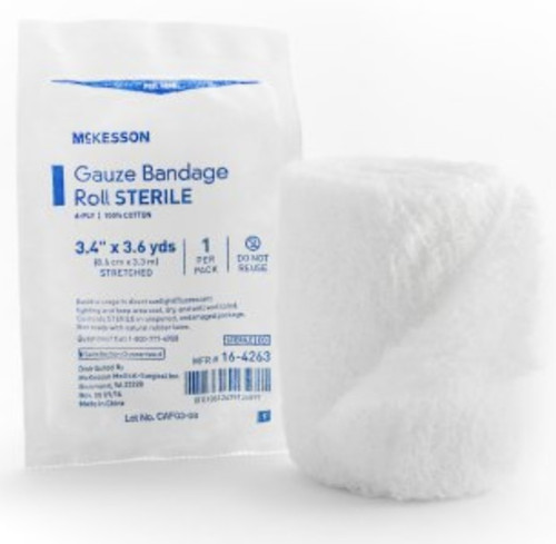 McKesson 6-Ply Fluff Bandage Roll, Sterile