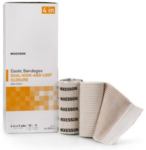 McKesson Elastic Bandage - Double Hook and Loop Closure - NonSterile