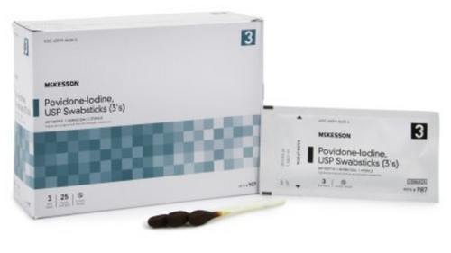 McKesson Impregnated Swabstick, 10% Povidone-Iodine