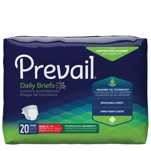 Prevail Daily Briefs with Tabs, Maximum Protection