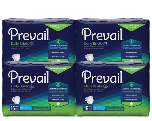 Prevail Daily Adult Diapers with Tabs, Maximum