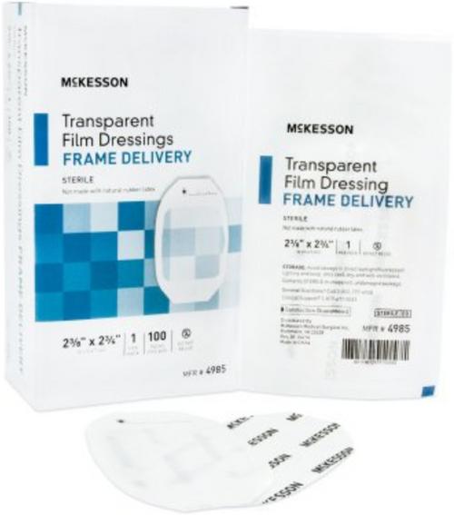 McKesson Transparent Film Dressing Octagon, Sterile
