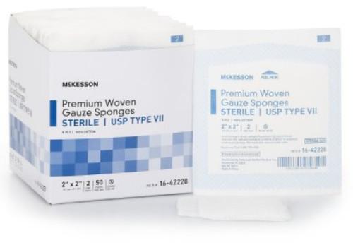 McKesson USP Type VII 8-Ply Gauze Sponge, Sterile