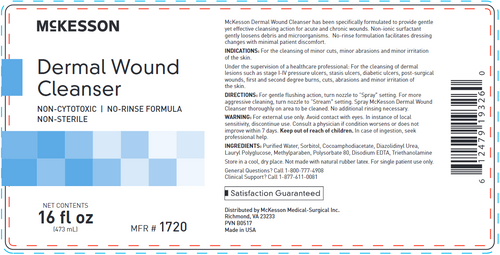 McKesson Dermal Wound Cleanser, NonSterile