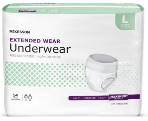 McKesson Extended Wear Pull-Up Underwear, Maximum