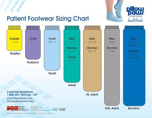 Pillow Paws Non-Slip Slipper Socks, 2X-Large