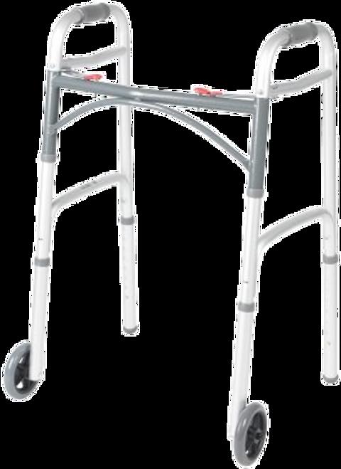 McKesson Aluminum Folding Walker with Wheels