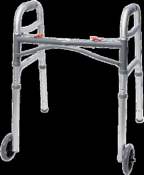 McKesson Aluminium Folding Walker with Wheels