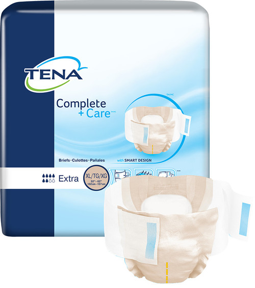 TENA Complete +Care Incontinence Brief, Moderate Absorbency