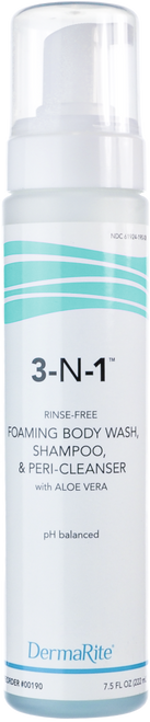 DermaRite 3-N-1 Cleansing Foam Body Wash