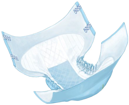 Wings Plus Disposable Adult Diapers with Tabs, Heavy