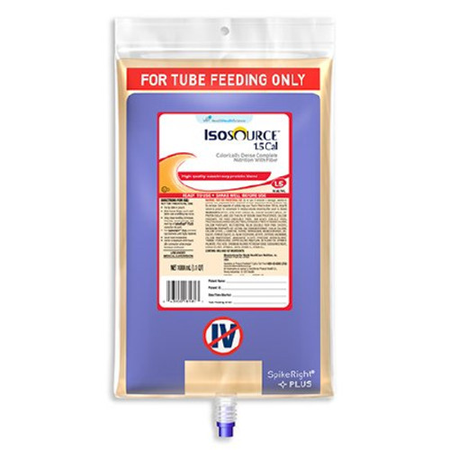 Isosource 1.5 Cal Tube Feeding Formula, Bag