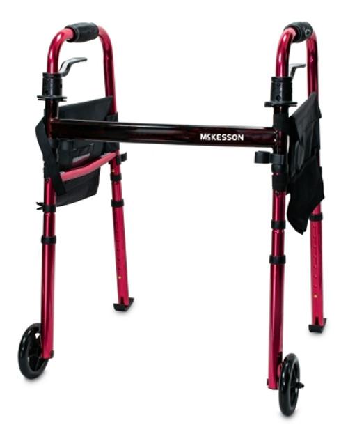 McKesson Aluminum Travel Walker with Wheels