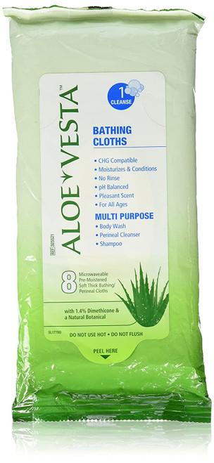 Aloe Vesta Rinse-Free Bath Wipe