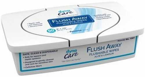 Dynarex Flushable Adult Wipes