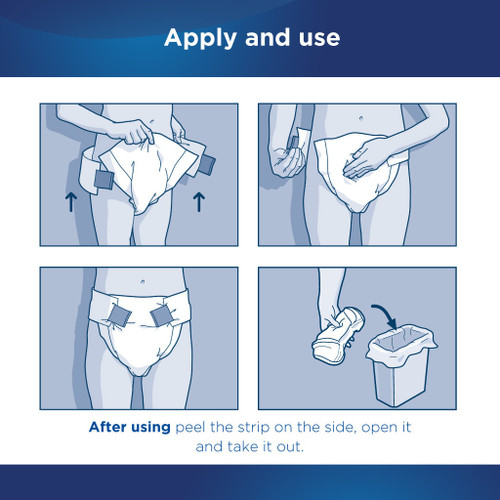 Attends Classic Adult Diaper with Tabs, Severe