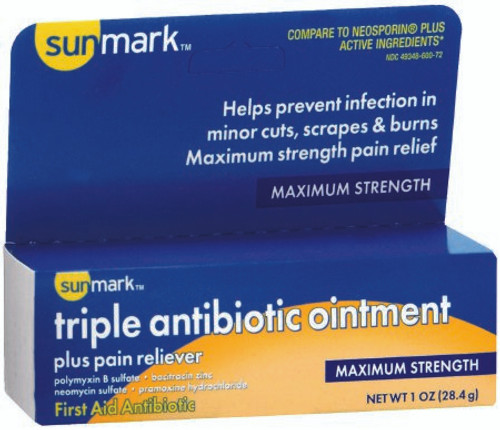 Sunmark First Aid Antibiotic Ointment Tube