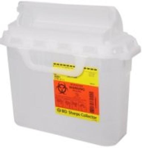 BD Sharps Non-Locking Lid Container, 5.4 Quart
