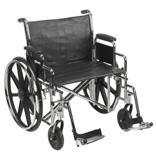 McKesson Bariatric Dual Axle Desk Length Wheelchair, 450 lbs. Weight Capacity