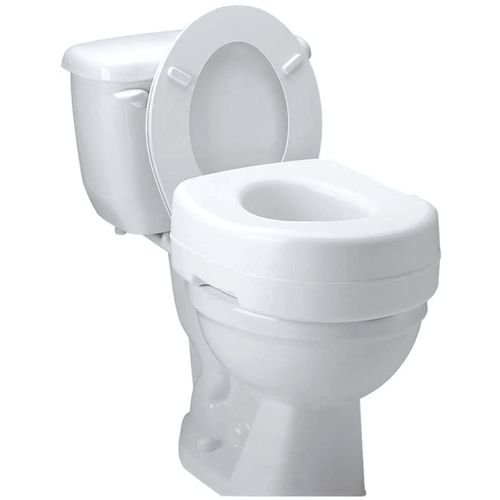 Carex Raised Toilet Seat with Rubber Pads, 5.5""