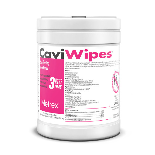 CaviWipes Surface Disinfectant Wipes, 13-1100-EA1, 1 Canister