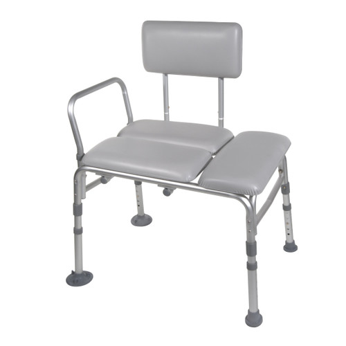 Drive Bath Transfer Bench with Padded Cushioned Seat and Backrest, 12005KD-1-EA1, 1 Bench