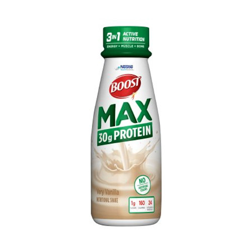 Boost Max Ready to Use Oral Protein Supplement Bottle Very Vanilla