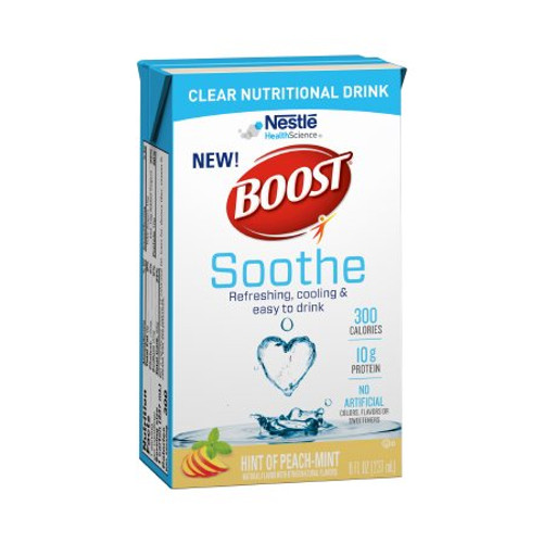 Carton of Peach Mint Boost Soothe Ready to Use Oral Supplement