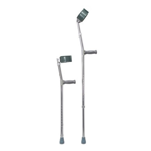 Mckesson Adult Steel Frame Forearm Crutches