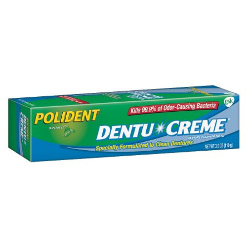 Package of Polident Dentu-Creme Denture Cleaner