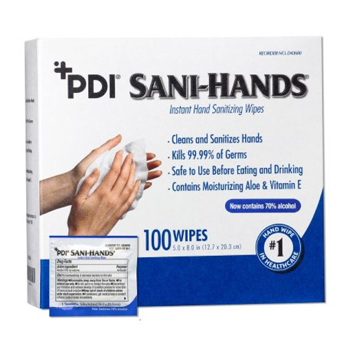 Package of Sani-Hands Hand Sanitizing Alcohol Wipe