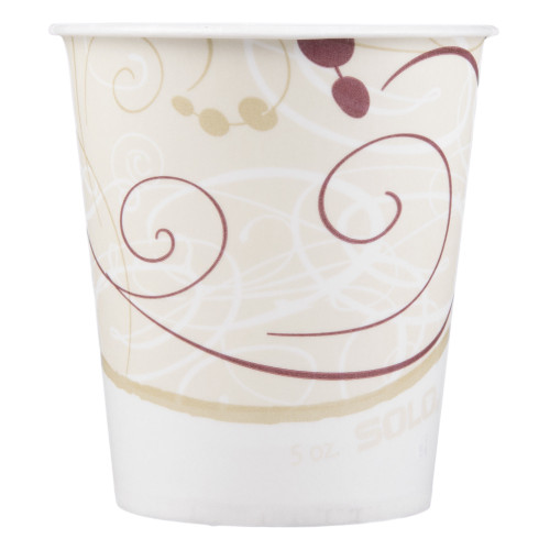 Solo Disposable Paper Drinking Cup, Symphony Print, R53-J8000, 5 oz - Case of 3000