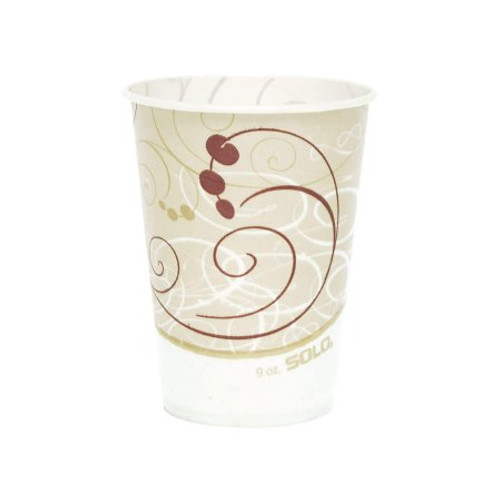 Solo Disposable Paper Drinking Cup, Symphony Print, R7N-J8000, 7 oz - Sleeve of 100