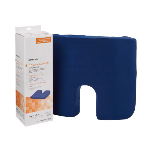 McKesson Foam Coccyx Support Seat Cushion, 146-RTL1491COM,  18 in x 14 in x 3 in - Case of 4