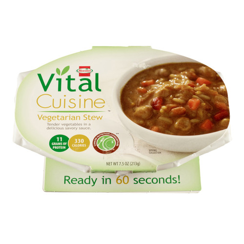 Vital Cuisine Ready to Use Oral Supplement Bowl, Vegetarian Stew Flavor , 69074, Vegetarian Stew - Case of 1