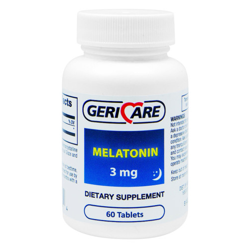 Geri-Care Natural Sleep Aid Tablets, 864-06, 3 mg - Bottle of 60