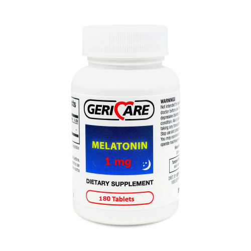 Geri-Care Natural Sleep Aid Tablets, 884-18, 1 mg - Bottle of 180
