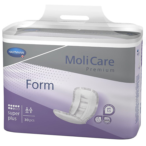 MoliCare Premium Form Super Plus Adult Disposable Bladder Control Pad, Heavy, 168919, One Size Fits Most - Bag of 30