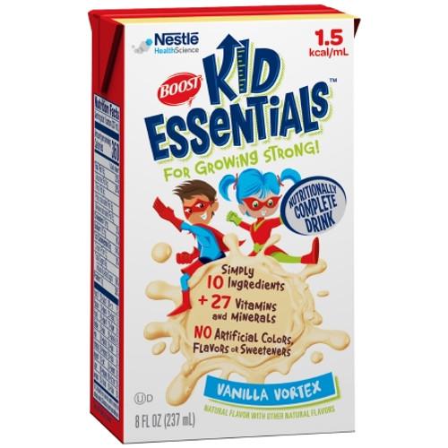 Carton of Boost Kid Essentials 1.5 Ready to Use Pediatric Oral Supplement/Tube Feeding Formula Vanilla Vortex