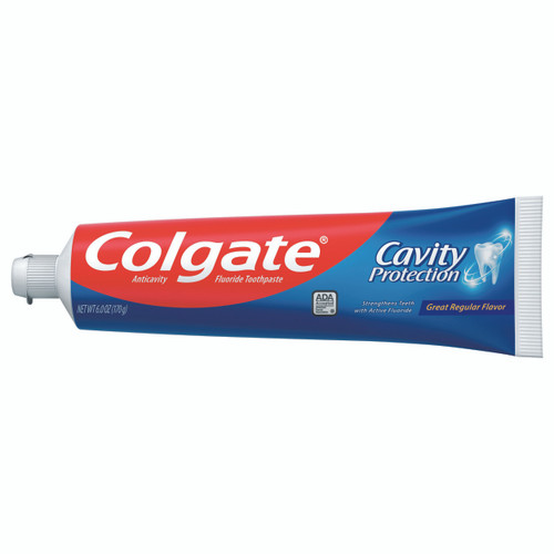 Colgate Toothpaste Cavity Protection Regular, Flavor, 6 oz., Tube, 151088, Case of 24 Tubes