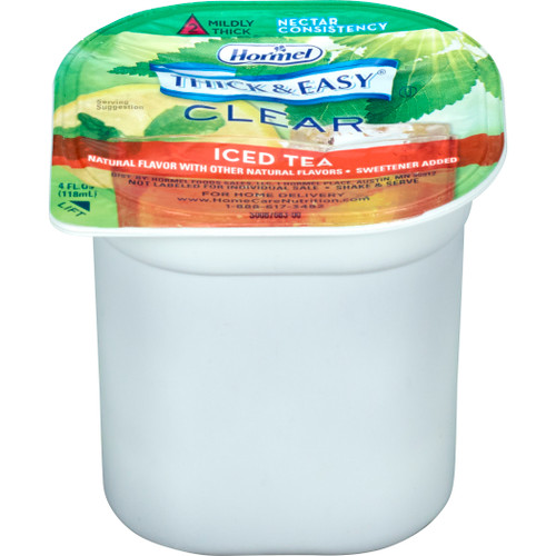 Thick & Easy Ready to Use Thickened Beverage, Iced Tea Flavor, 4 oz., Portion Cup, 28259, Case of 24 Cups