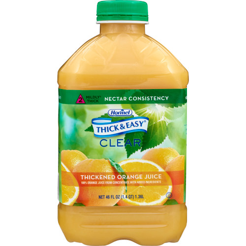 Thick & Easy  Ready to Use Thickened Beverage, Orange Juice Flavor, 46 oz., Bottle, 42161, Case of 6 Bottle's