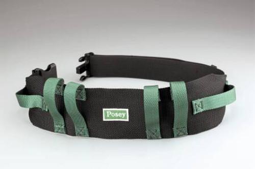 Posey Nylon Gait Belt, 6537Q, 55 Inch - Green/Black - 1 Each