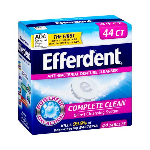 Efferdent Denture Cleaner , 81483201586, Bottle of 44 Tablets