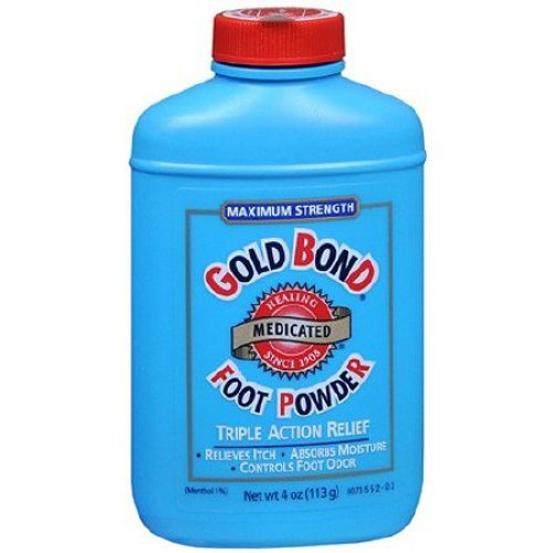 Gold Bond Foot Powder, 4 oz. Menthol Scent Shaker Bottle, 41167001704, 1 Bottle