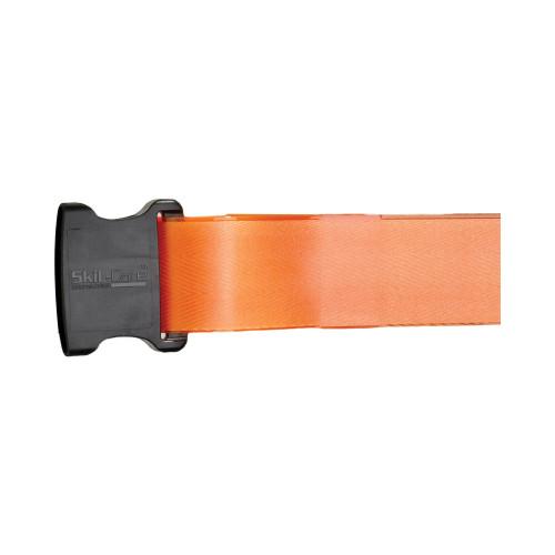 SkiL-Care Vinyl Gait Belt, Multiple Colors, 914387, 60 Inch - Orange