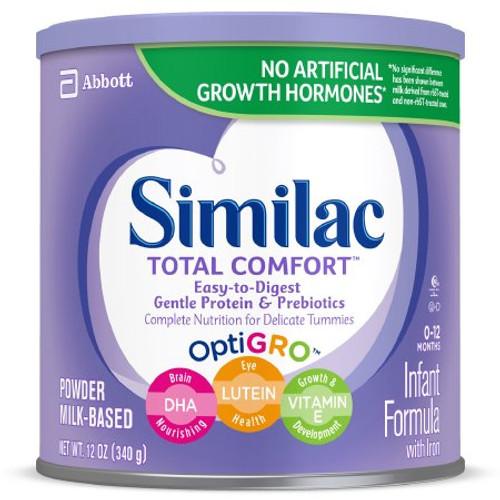 Similac Total Comfort Infant Formula Powder, 12 oz., Can, 62599, Case of 6 Cans