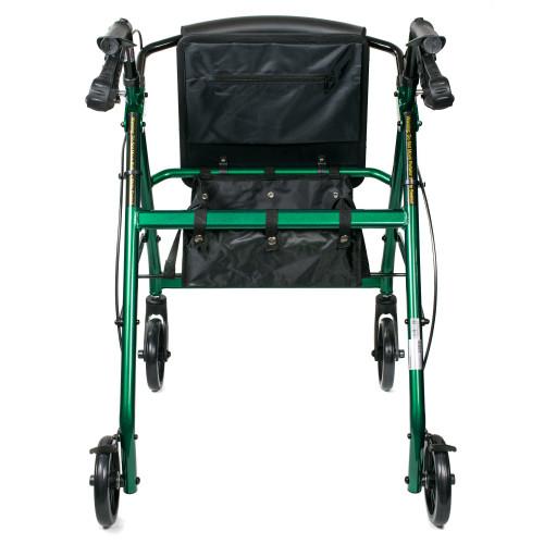 McKesson Folding 4 Wheel Rollator, Green, Aluminum Frame, 146-R726GR, 1 Rollator