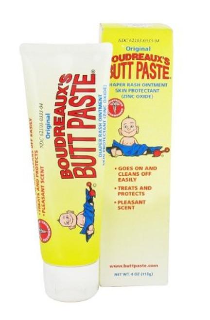 Boudreaux's Butt Paste Diaper Rash Treatment, Tube, Scented, Multiple Options, 62103033304, 4 oz Tube - 1 Each