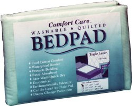 """Comfort Care Reusable Polyester/Rayon Underpad, Heavy Absorbency, 3529, 35 X 29"""" - 12 Pads"""